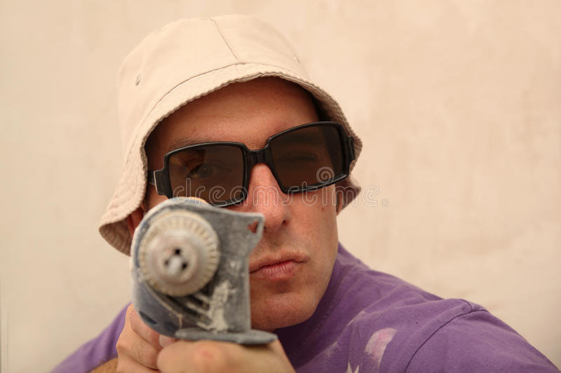 Download Man With Electric Drill Stock Photo - Image: 17018100