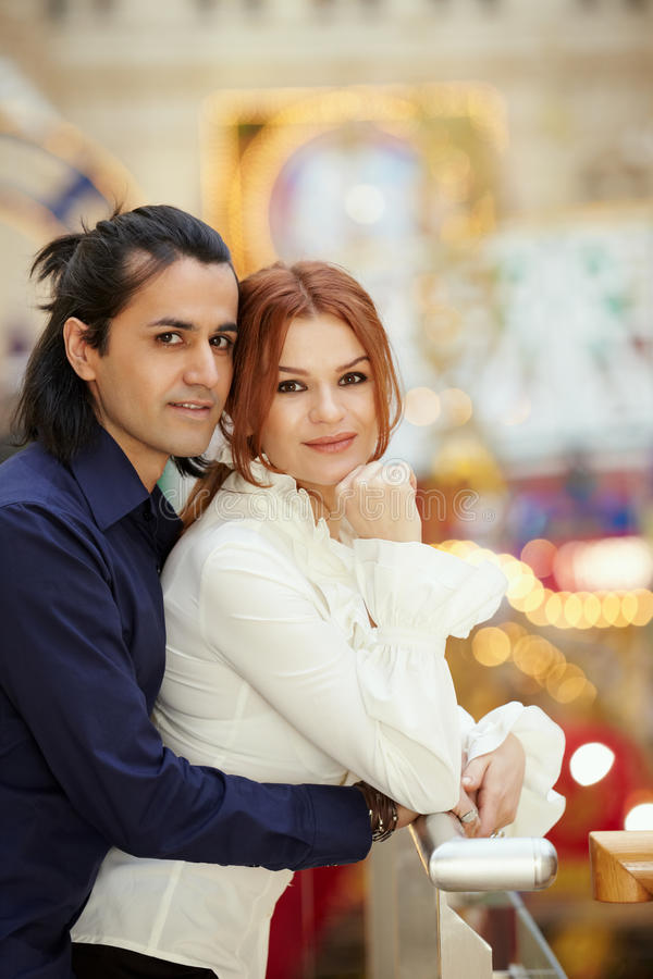Man Embrace Woman From Behind Stock Image