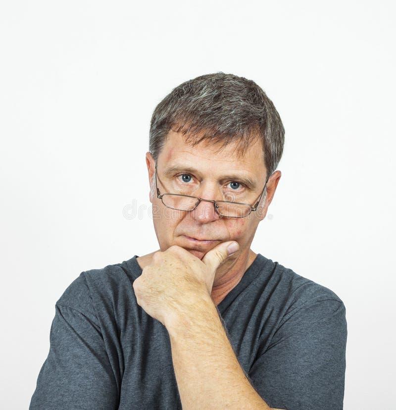 Man In Emotion Stock Photo