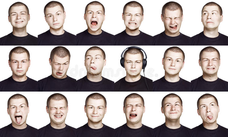 Man - emotion face royalty free stock images