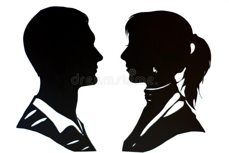 Man en vrouw vector illustratie