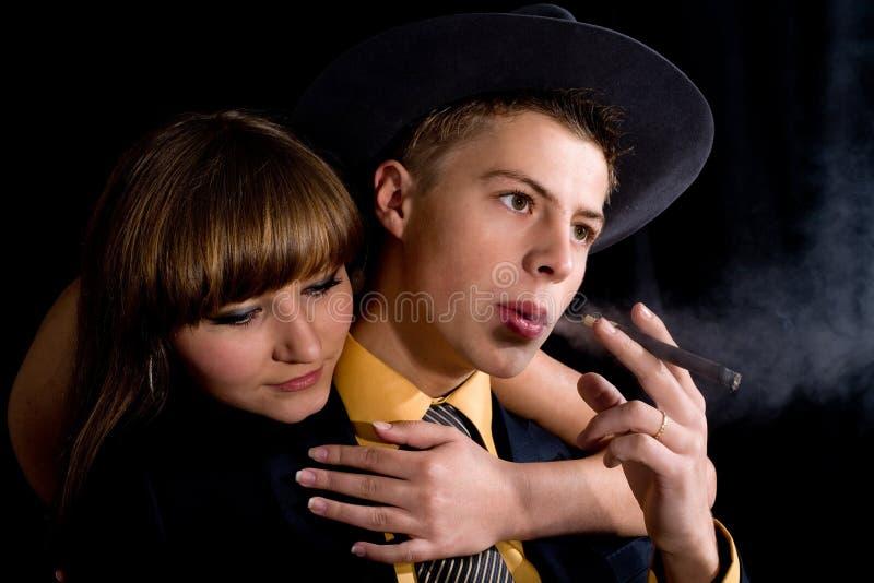 Man en vrouw stock foto's