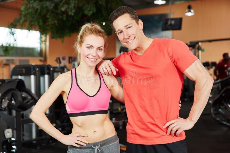 Man en vrouw als trainerteam stock afbeelding