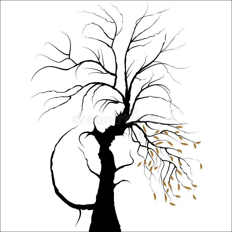 Download Man en vrouw in liefde. vector illustratie. Illustratie bestaande uit decor - 29507896