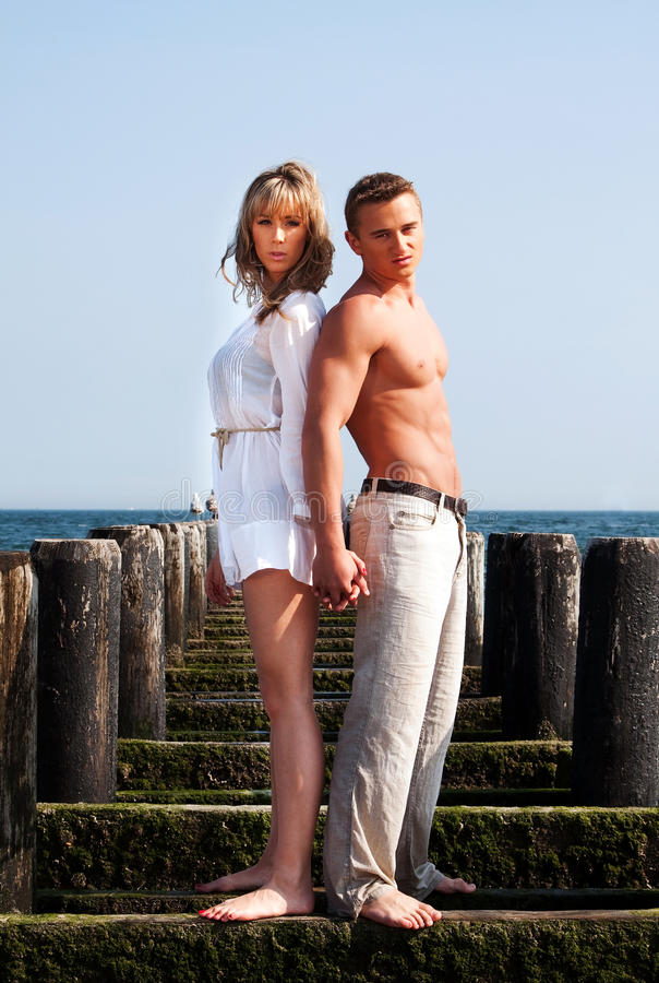 Man en vrouw rijtjes royalty-vrije stock foto's