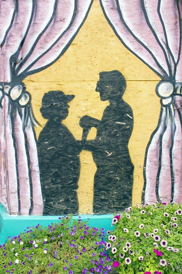 Man en vrouwen het dansen stock fotografie