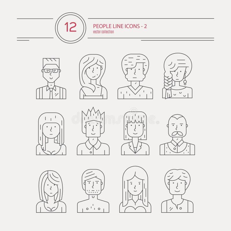 Man en Vrouwenavatars royalty-vrije illustratie