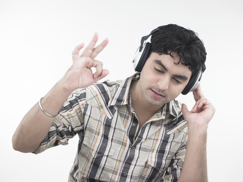 Man Enjoying His To Music Royalty Free Stock Photos