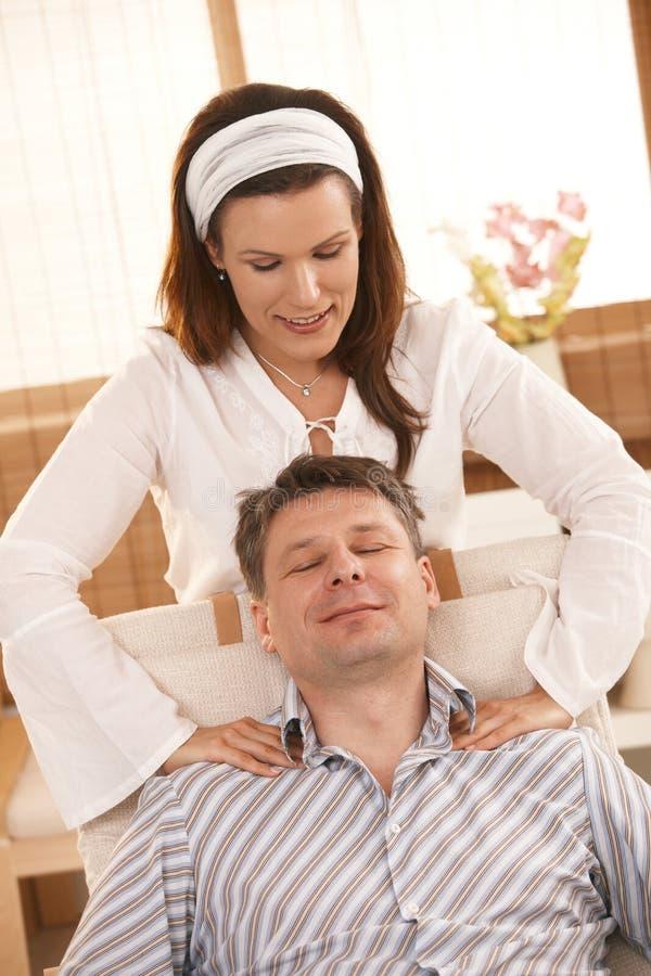 Man enjoying massage royalty free stock photography
