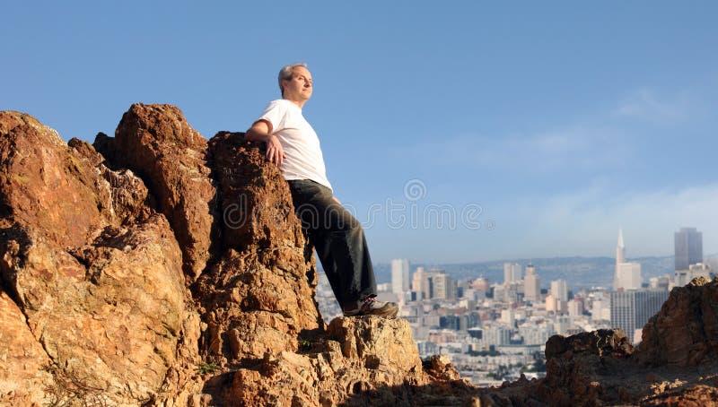Man enjoying the view royalty free stock photo