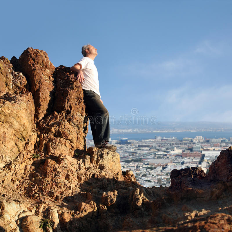 Download Man enjoying the view stock image. Image of peace, outdoor - 9555613