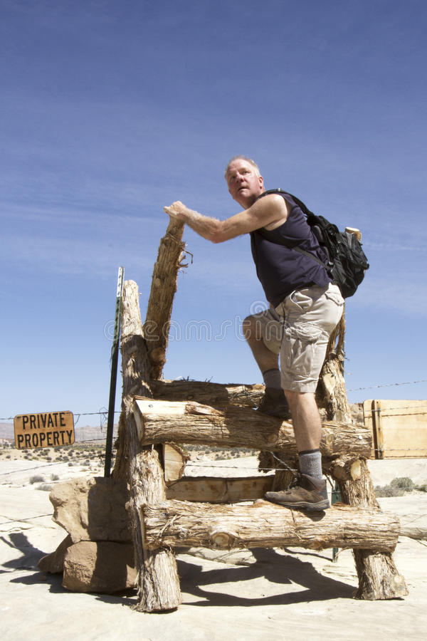 Download Man Entering Private Property Stock Image - Image: 30969223