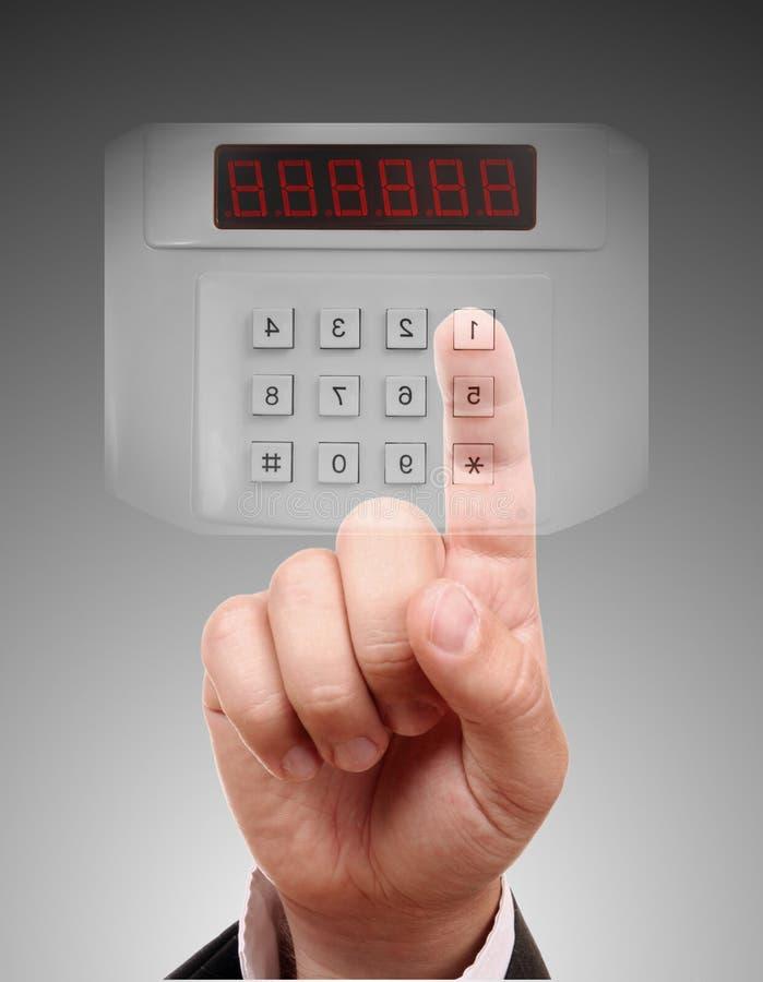 Download Man entering the safe stock illustration. Illustration of control - 21927473