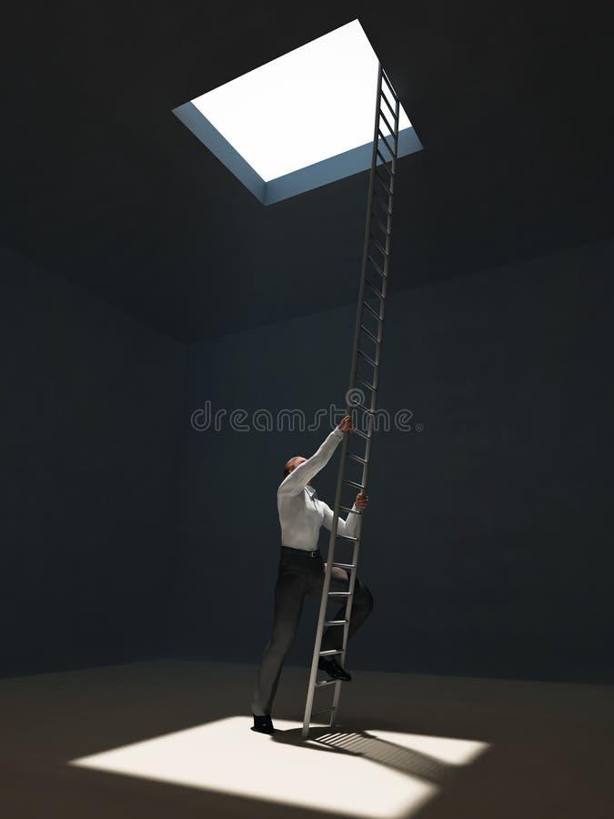 Free Man Escape From Dark Room Stock Photo - 18599510