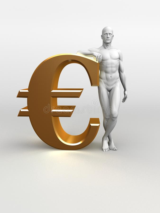 Download Man and euro sign stock illustration. Image of symbol - 15433795