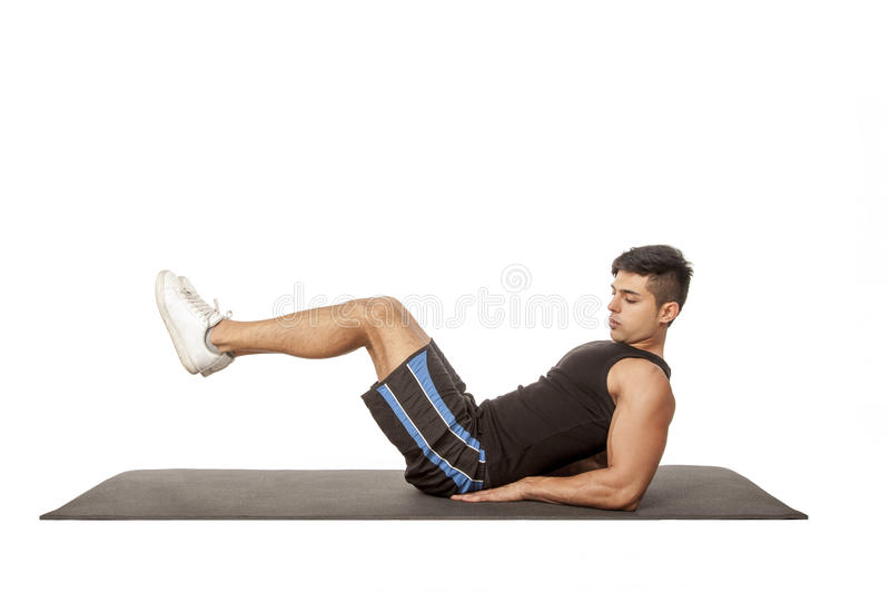 Download Man exercising stock image. Image of black, photography - 27536475
