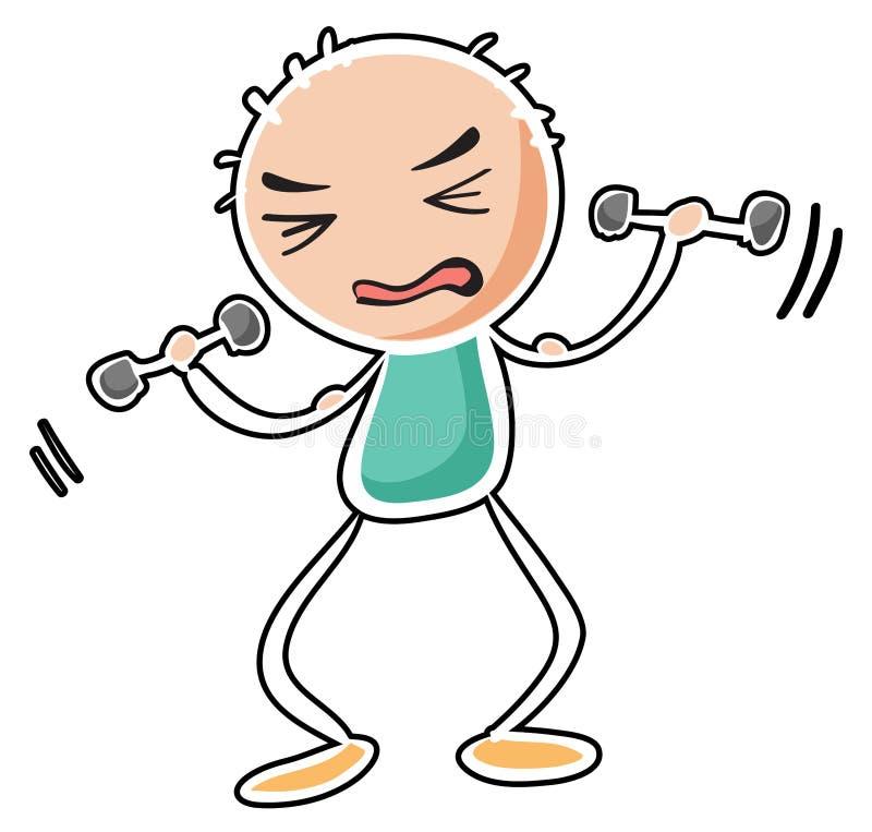 A man exercising stock illustration