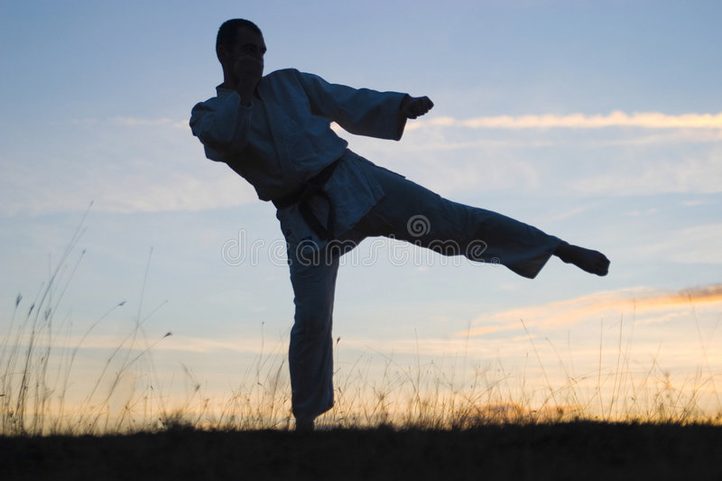 Download Man exercising outdoors stock photo. Image of exercising - 4900792