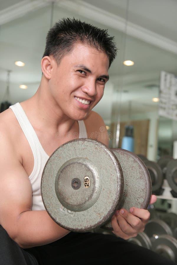 Man Exercising Smiling Stock Photo