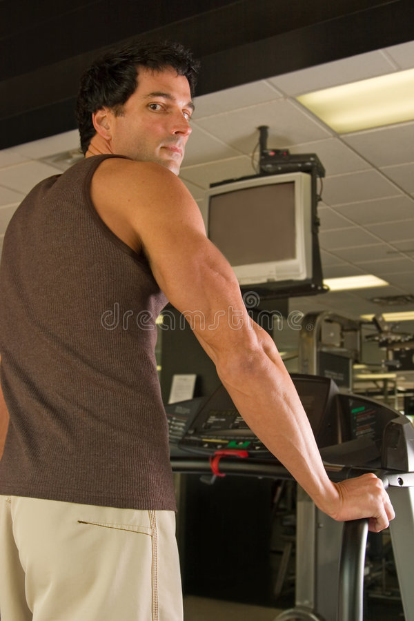 Download Man Exercising On Treadmill Stock Photo - Image: 2563432