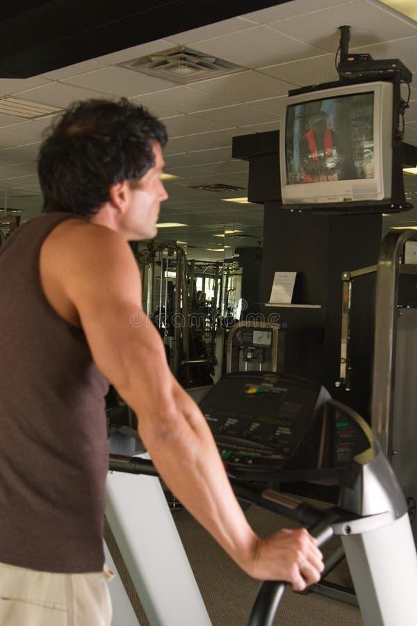 Man Exercising On Treadmill 7 Stock Image