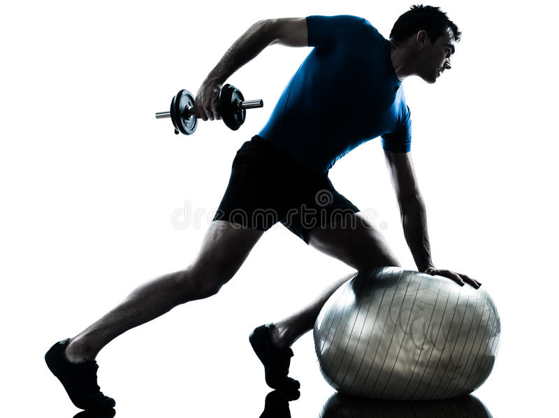 Download Man Exercising Weight Training Workout Fitness Stock Image - Image: 26424391