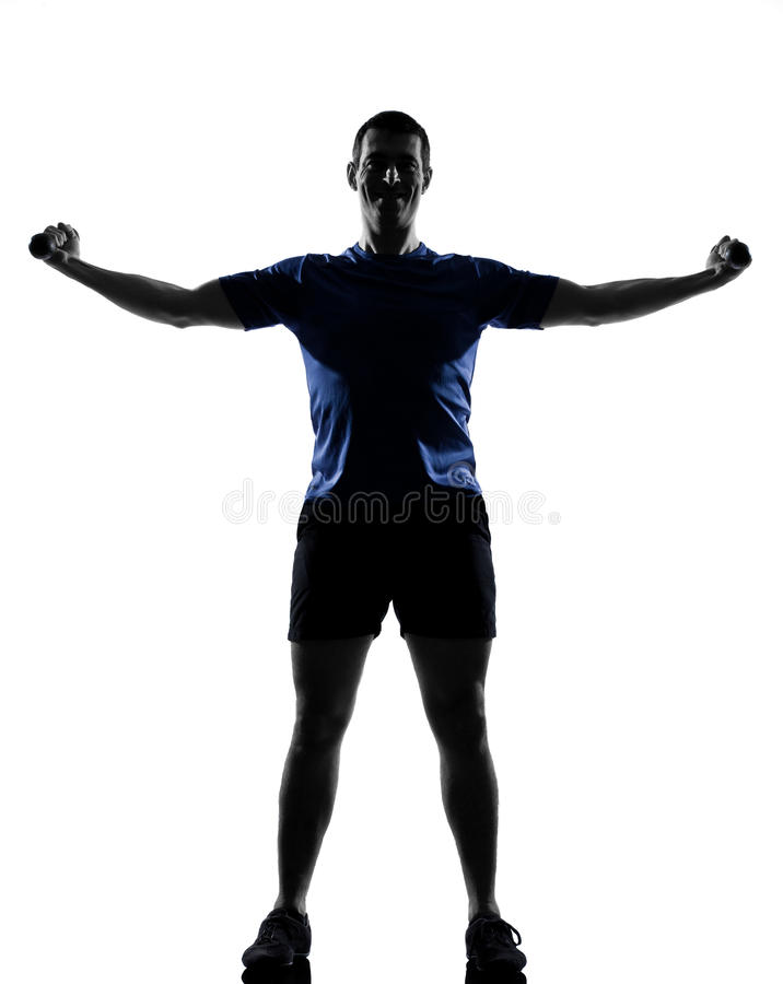 Download Man exercising workout stock image. Image of gymnastic - 22870133