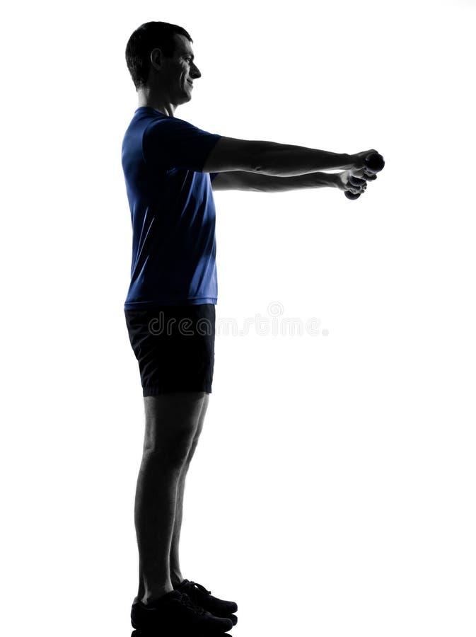 Man Exercising Workout Stock Photos