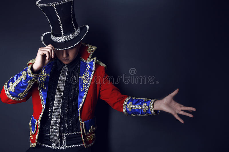 Man In Expensive Suit Of Illusionist-conjurer. Stock Image