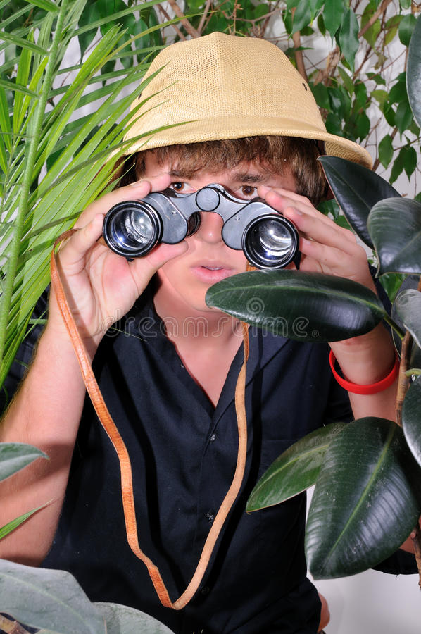 Download Man exploring jungle stock photo. Image of looking, outdoors - 11576844