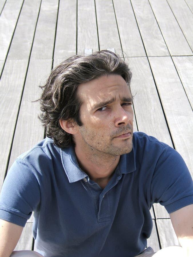 Man expression stock photo