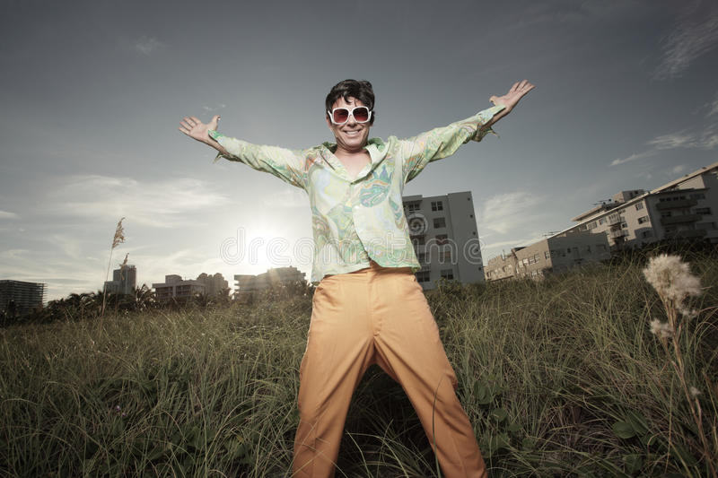 Download Man extending his arms stock photo. Image of adult, pants - 11504742