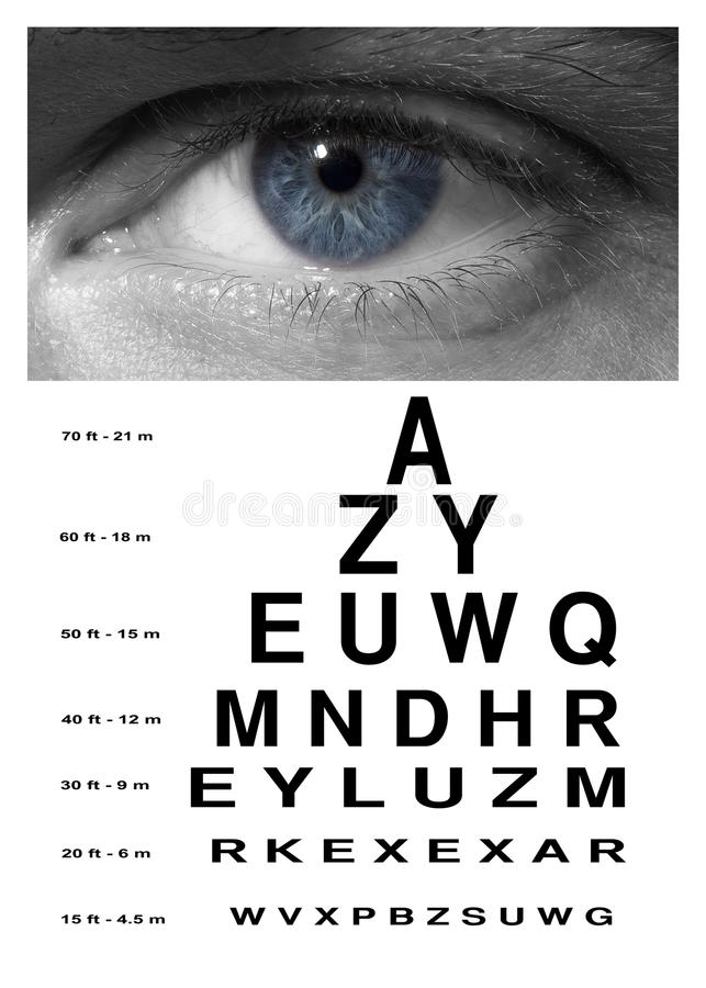 Download Man Eye With Test Vision Chart Close Up Stock Image - Image of blind, disturbed: 40321747
