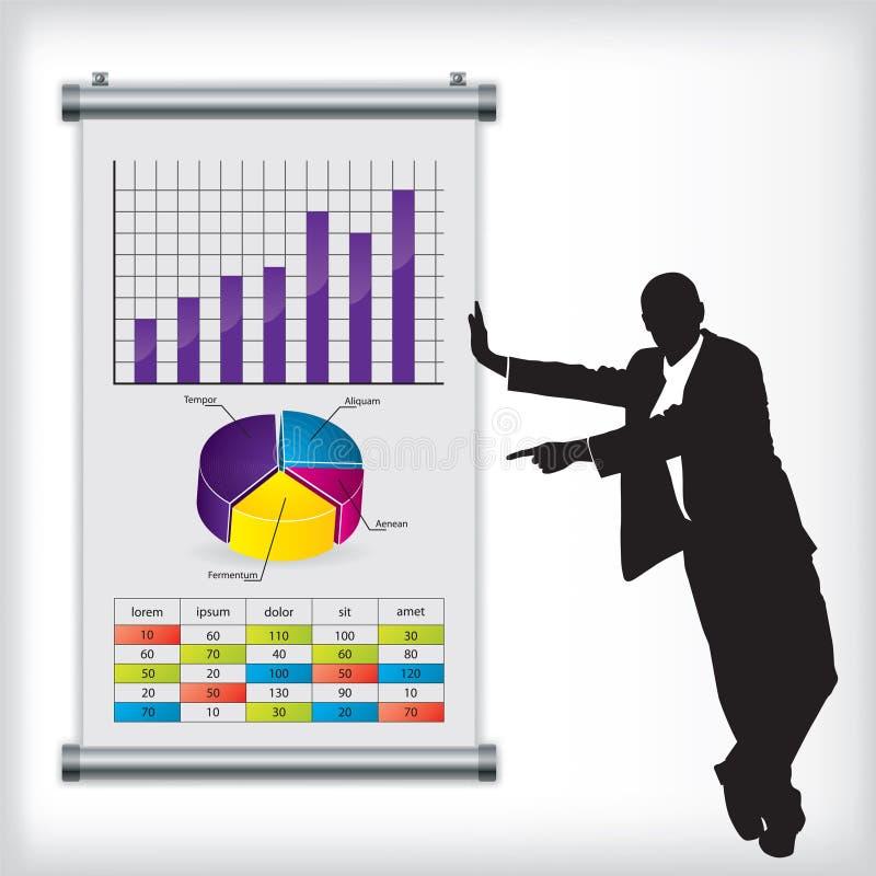 man för affärsdiagram vektor illustrationer