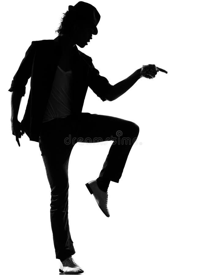 Man för dans för dansare för höftflygturfunk royaltyfria bilder