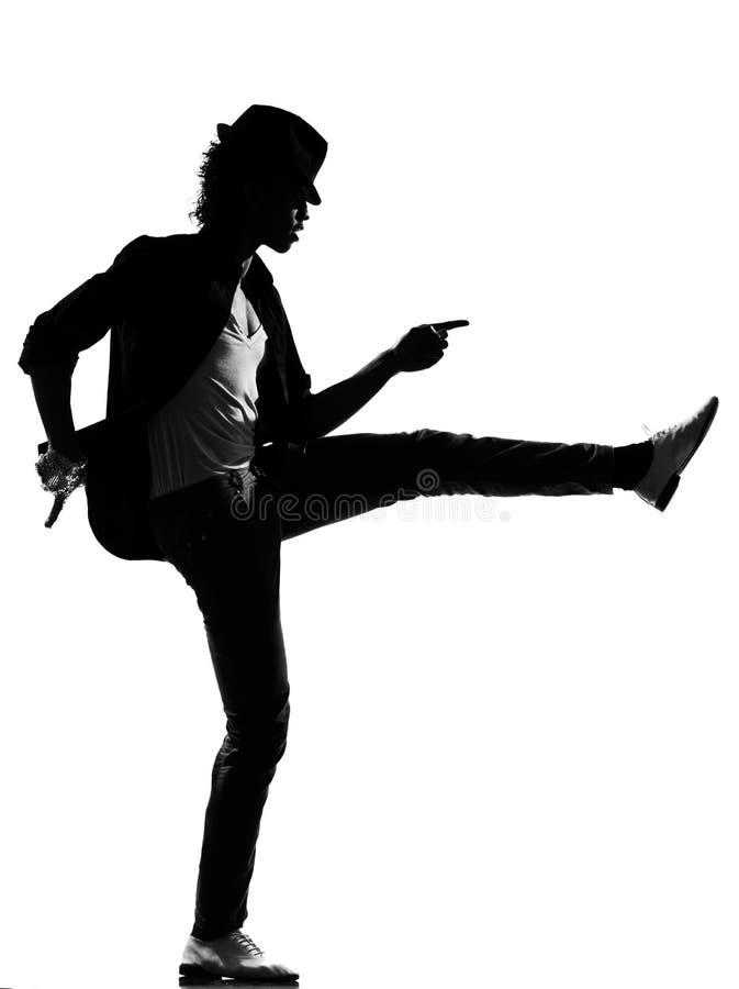 Man för dans för dansare för höftflygturfunk arkivfoto