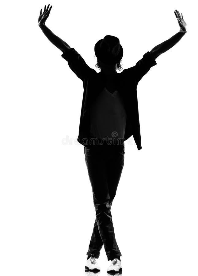 man för flygtur för höft för dansaredansfunk fotografering för bildbyråer