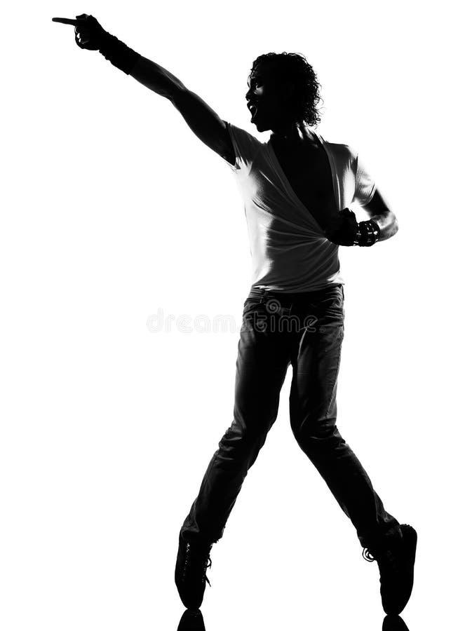 man för flygtur för höft för dansaredansfunk arkivbild