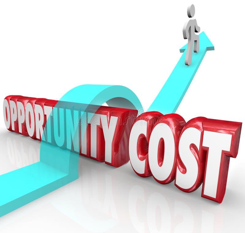 Man för prioritet för tilldelning för resurs för tillfällekostnader som över hoppar vektor illustrationer