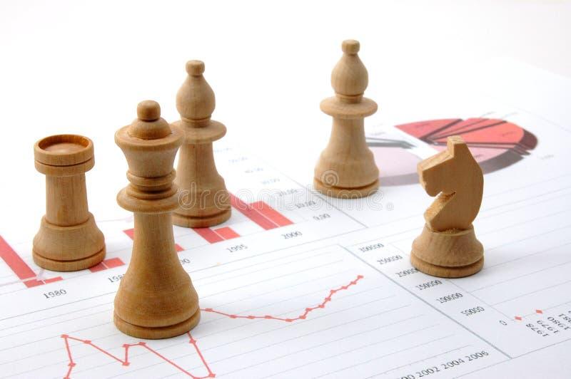 man för schack för affärsdiagram över royaltyfria bilder