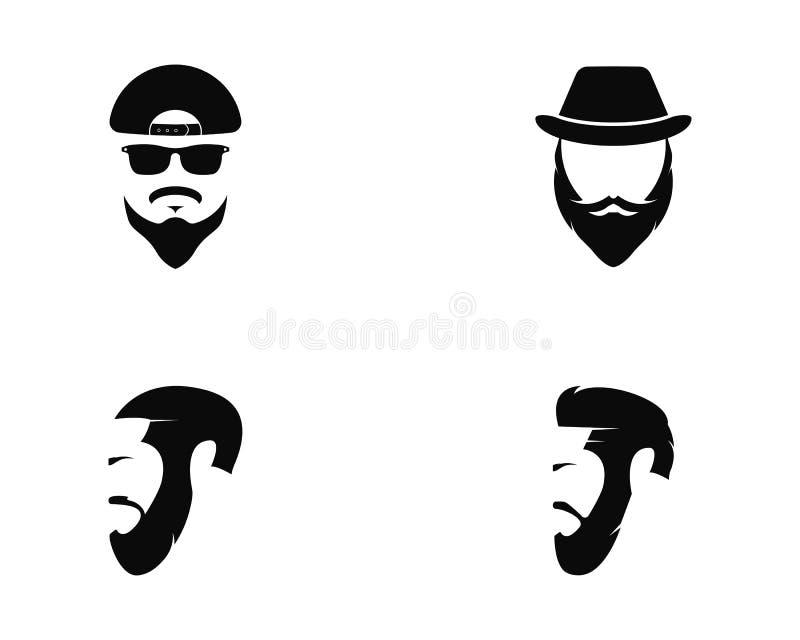 Man face logo template vector icon illustration. Design royalty free illustration