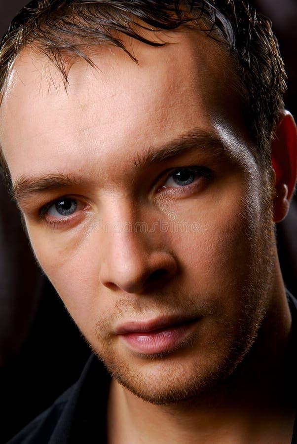 Man face close up