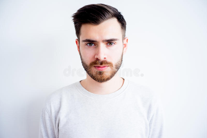 Man face expressions royalty free stock photography