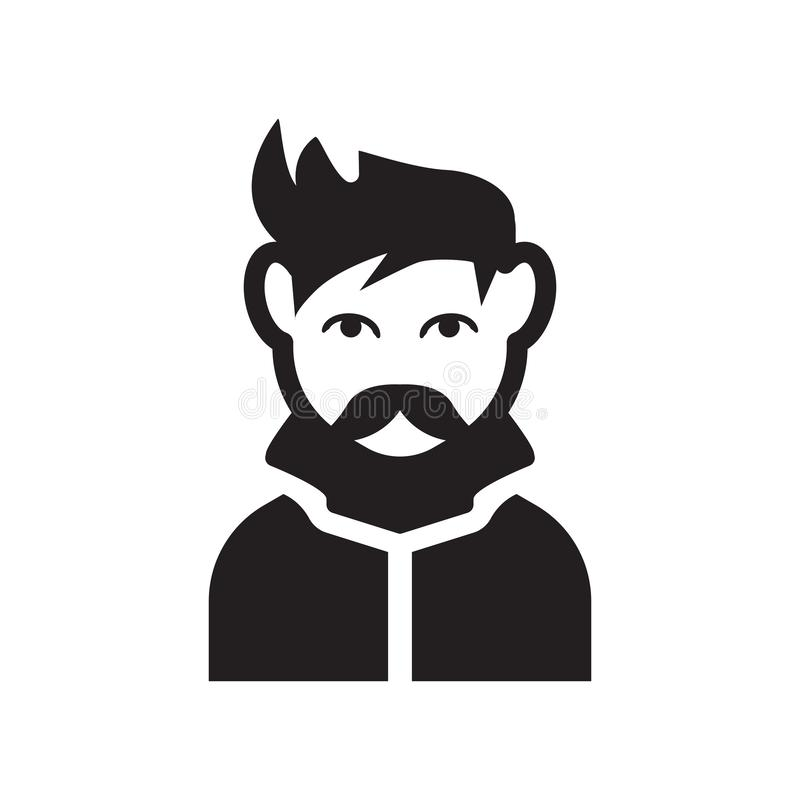 Man face with goatee icon. Trendy Man face with goatee logo concept on white background from People collection. Suitable for use on web apps, mobile apps and royalty free illustration