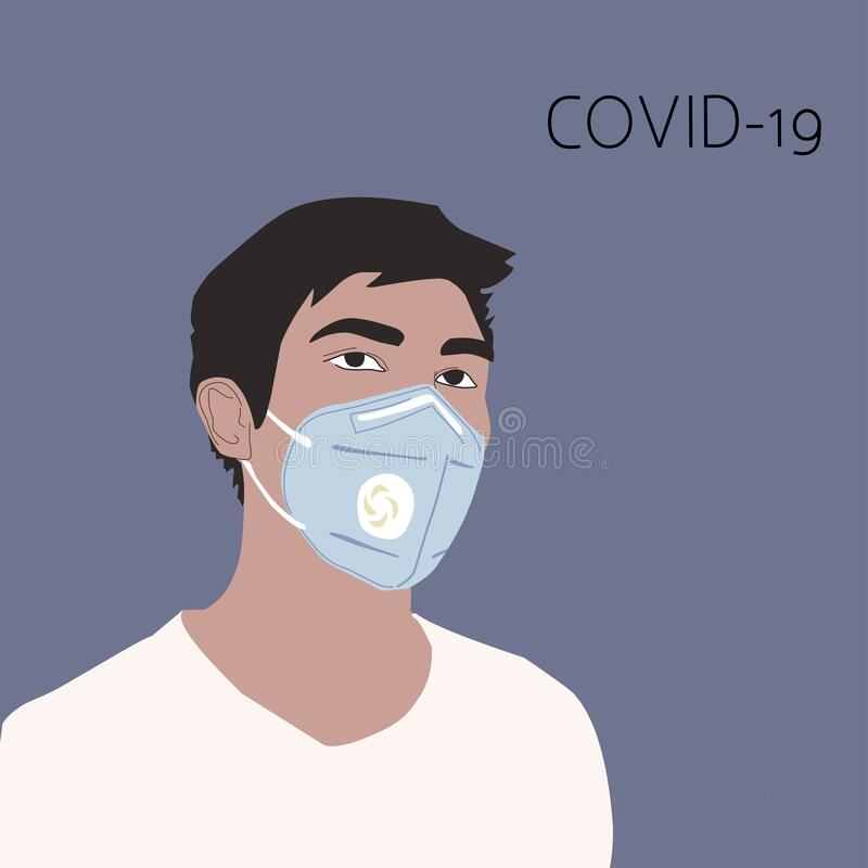 Free Man Face In Protection Mask Against Coronavirus Royalty Free Stock Photography - 174973827