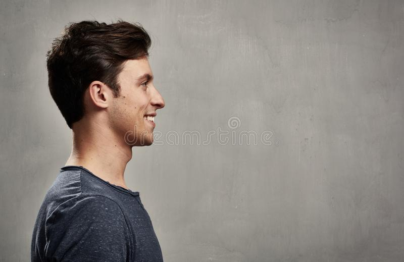 Download Man face profile stock photo. Image of teen, banner, friendly - 87465322