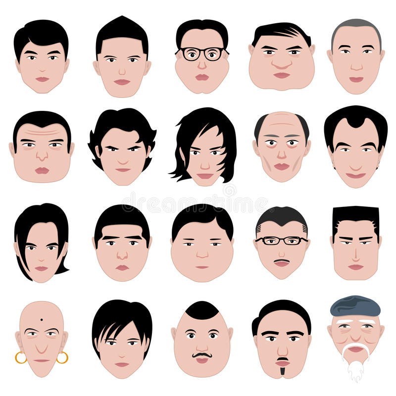 Download Man Face Shape Hairstyle Round Fat Thin Old Royalty Free Stock Photos - Image: 20452818