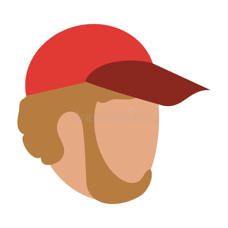 Man faceless with hat. Vector illustration graphic design vector illustration graphic design stock illustration