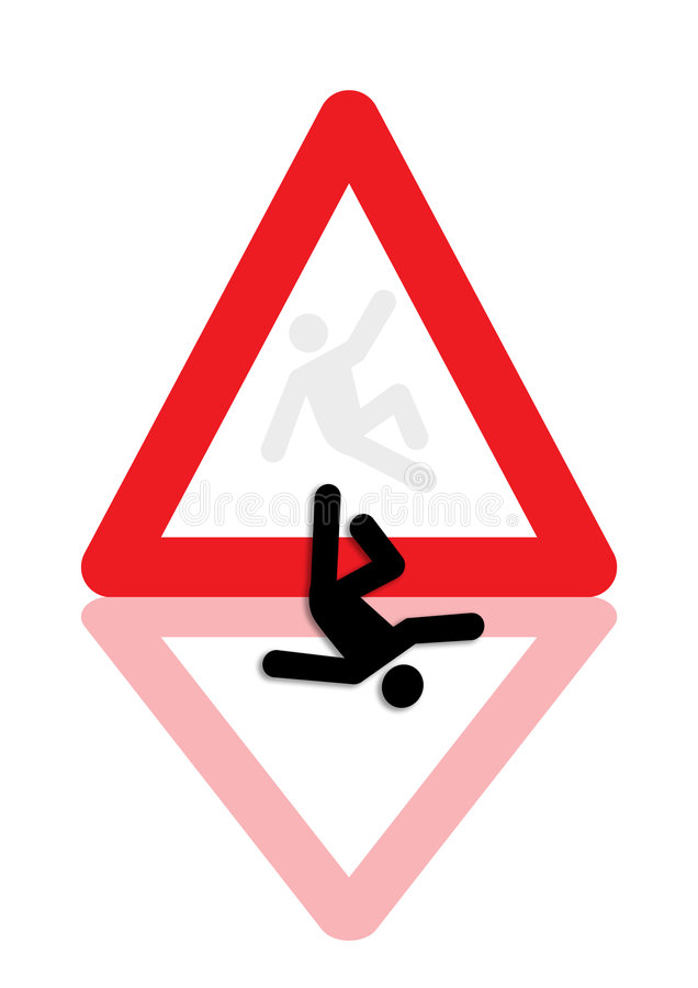 Man fallen down icon graphic