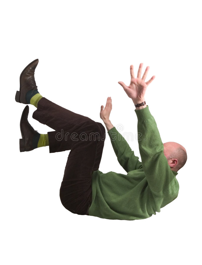 Download Man falling stock image. Image of danger, trousers, brown - 2456673